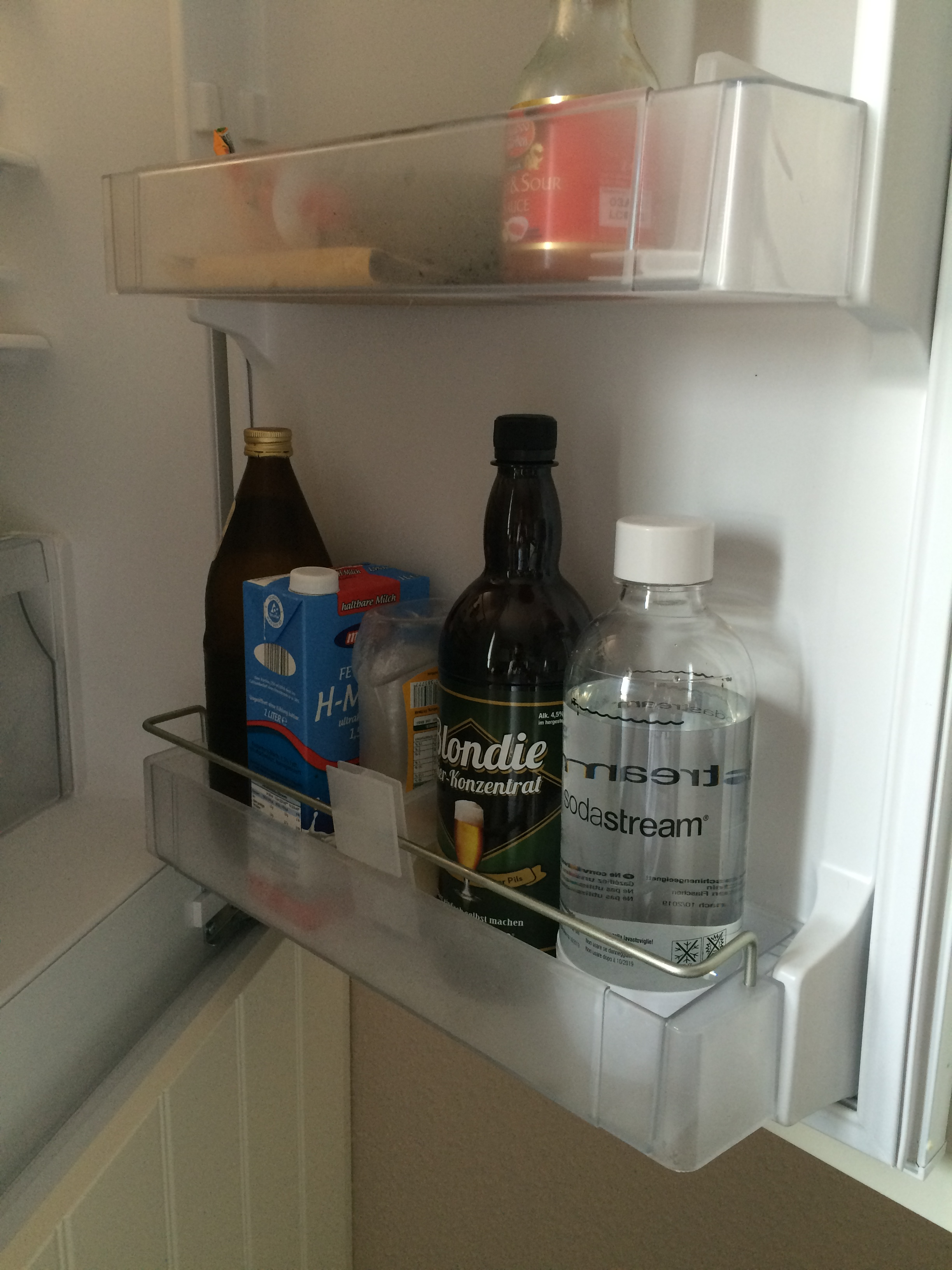 Sodastream Wasser & Bier Sirup kühlen